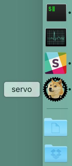 Servo application in the OS X dock